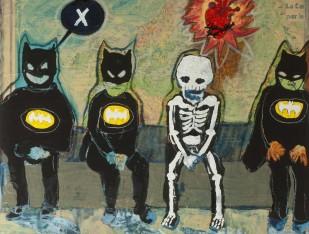 3 piccoli batman e 1 scheletrino